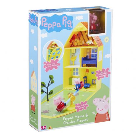 Peppa Pig - PEPPA'S HOME & GARDEN House PLAYSET- With FIGURES